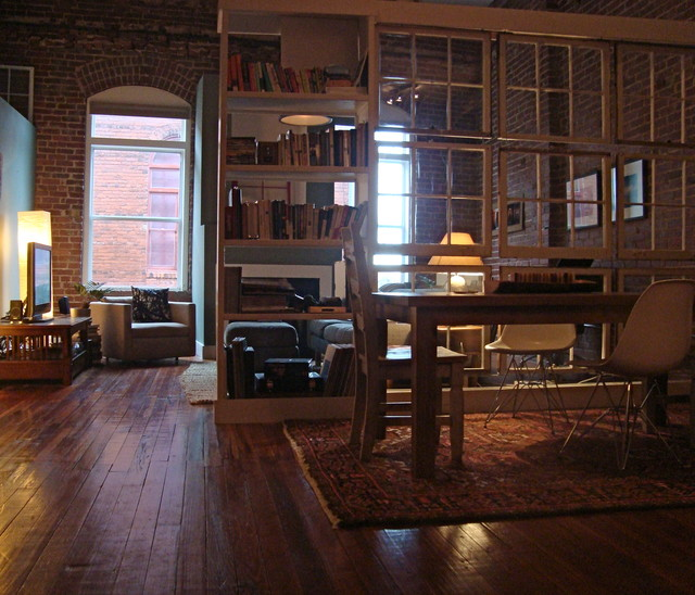 Castleberry Hill Loft industrial-living-room