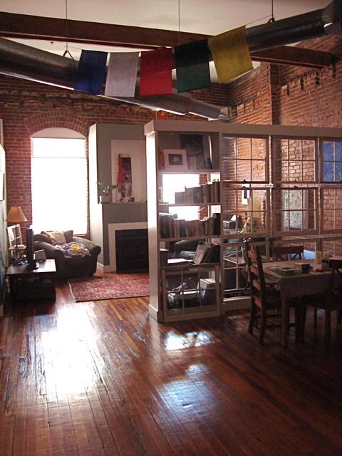 Castleberry Hill Loft industrial-living-room
