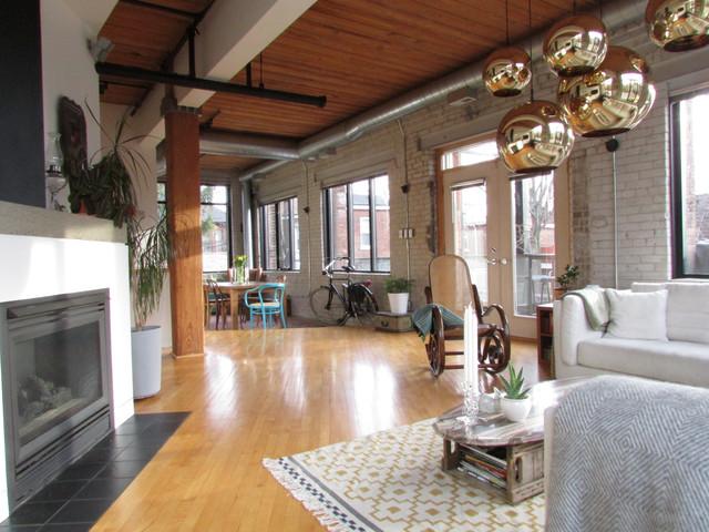 Industrial Loft Industrial Living Room Toronto By