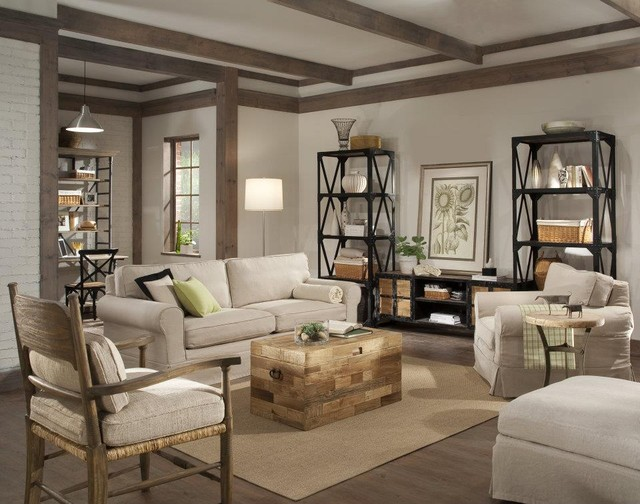 Industrial Style Eclectic Living Room - eclectic - living room