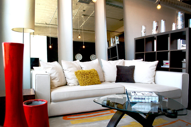 Industrial urban modern living room kansas city by modern design Contemporary urban living room
