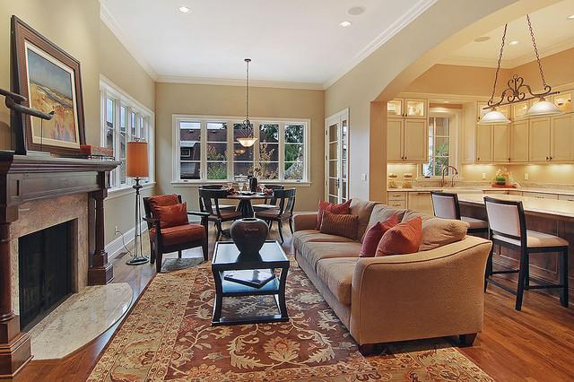 informal family living room contemporary living room