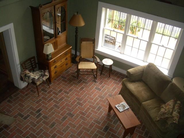 Inglenook Tile Design traditional-living-room