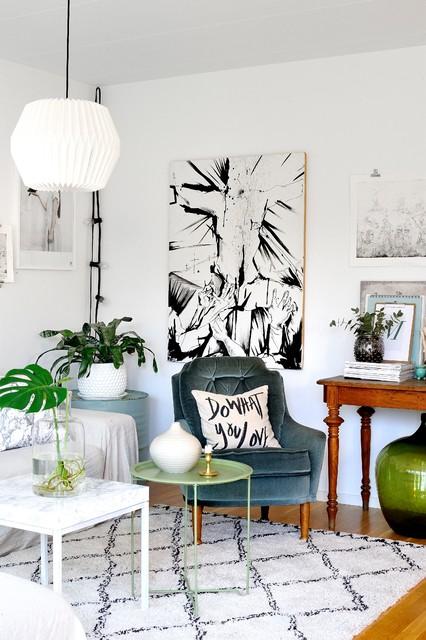 Inredningsreportage eclectic-living-room