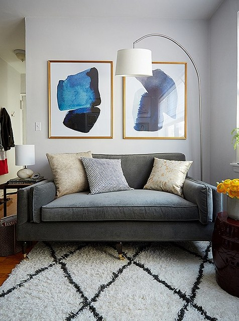 Inside A Charming Chic NYC Studio Apartment Makeover Eclectic Living Room