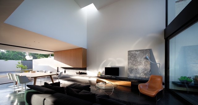 Inside Outside House - Contemporary - Living Room - melbourne - by Woods Bagot Australia