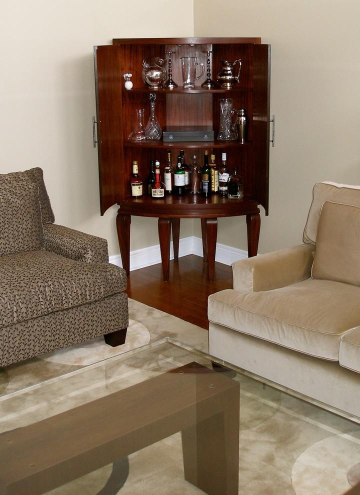 Inside The Curved Mahogany Corner, Dry Bar Furniture