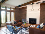 midcentury living room - Impressed Houzz: An Open Flooring Plan Updates a Midcentury Dwelling (12 pictures)