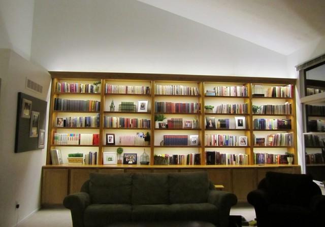 Inspired Led Bookcase Lighting Modern Vardagsrum