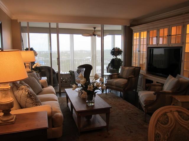 Intercoastal Luxury Apartment Beach Style Living Room Miami By Jodi L