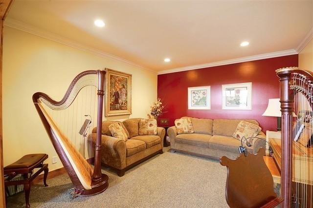 Music Room traditional-living-room