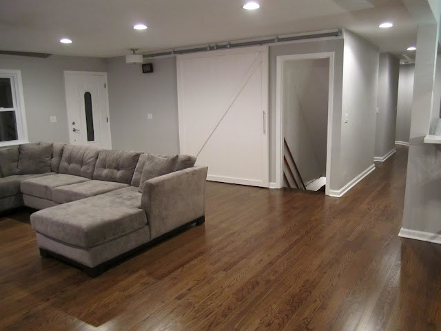 Interior Barn Door Contemporary Living Room New York