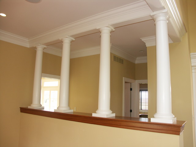 Interior Columns Eclectic Living Room Philadelphia