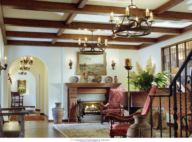 Interior traditional-living-room