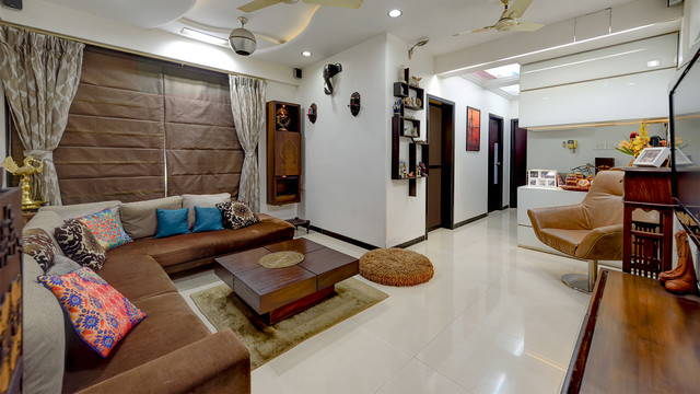 Interior Design for NRI Home Mumbai Contemporary Living Room