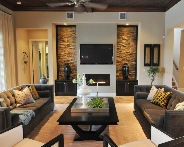 Interior design gallery for Living room decor ideas houzz