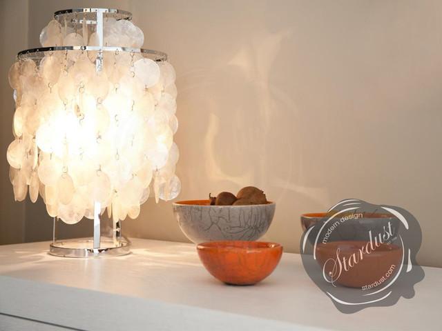 Interior Design Idea With Capiz Shell Panton Fun Table