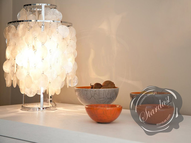 Interior design idea with capiz shell panton fun table lamp modern interior design idea with capiz shell panton fun table lamp modern living room aloadofball Images