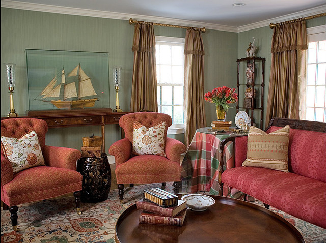 Interior Design Project by Cathy Glass Design Associates eclectic-living-room