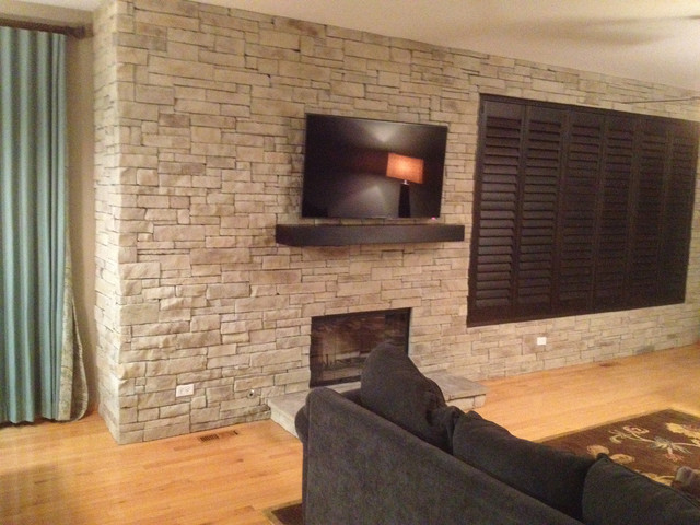 Interior Design With Stone Veneer Traditional Living