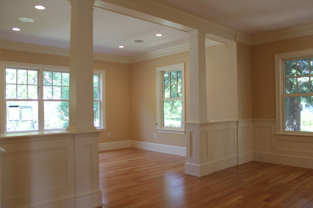 Interior finish carpentry traditional living room Home finishes