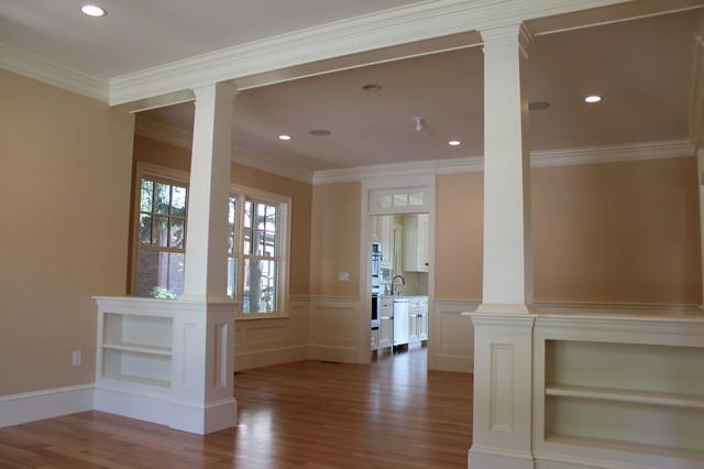 interior finish carpentry traditional living room boston by custom home finish