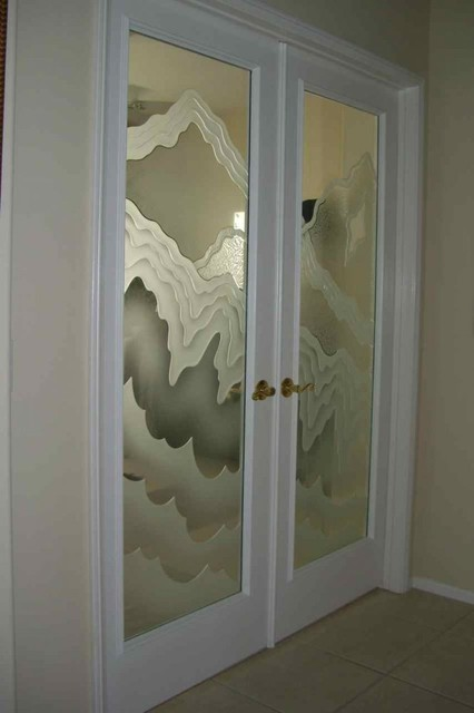 Interior Glass Doors With Obscure Frosted Glass Designs Rugged Waves Ecle