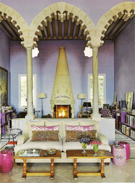 interior homescapes in architectural digest eclectic living room