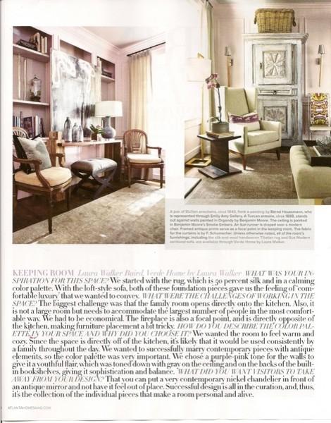 Interior Homescapes In Atlanta Homes Lifestyles Magazine