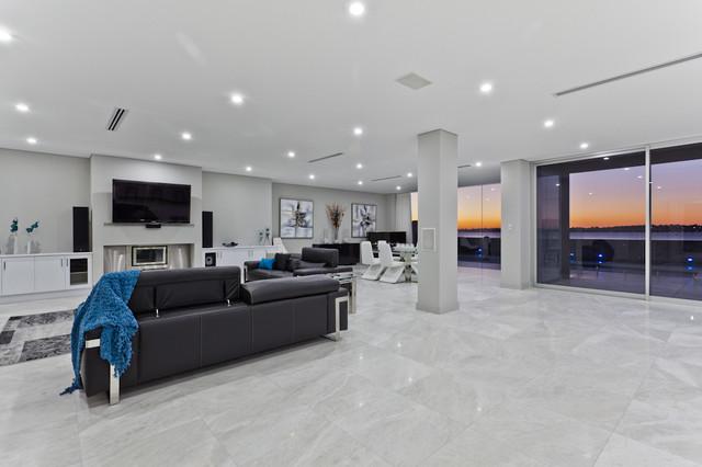 Minum cove concept home perth wa contemporary exterior perth - Interior Contemporary Living Room Perth By Putragraphy