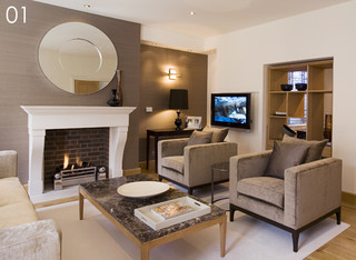 Interior re-design and interior re-designers-Blacksheep Design UK are residentia contemporary living room