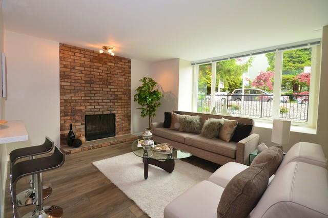 Interior Renovation: 1035 West 11th contemporary-living-room
