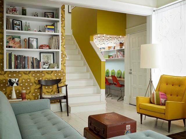 Interior Renovation - Grant Park, Atlanta eclectic-living-room