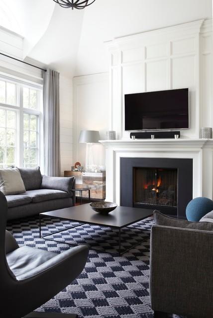Interior Renovations transitional-living-room
