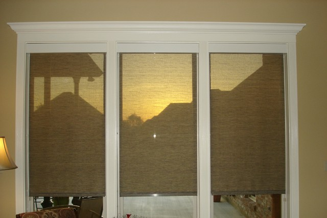 Interior Solar Shades Traditional Living Room Other By Sun Scape Window Tinting Solar
