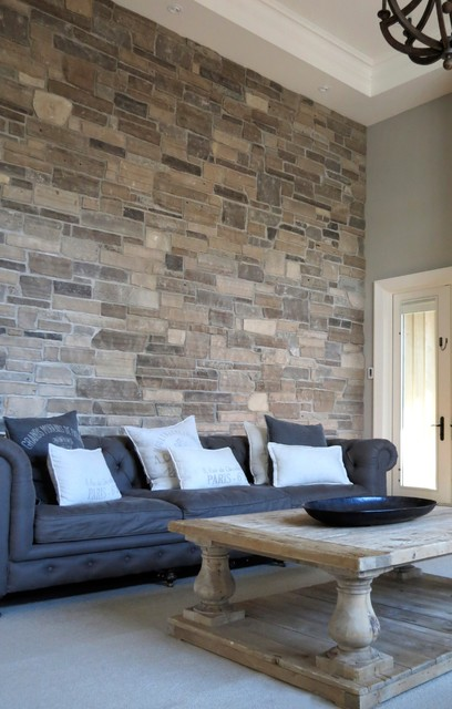 stone accent wall living room - Accent Wall Living Room