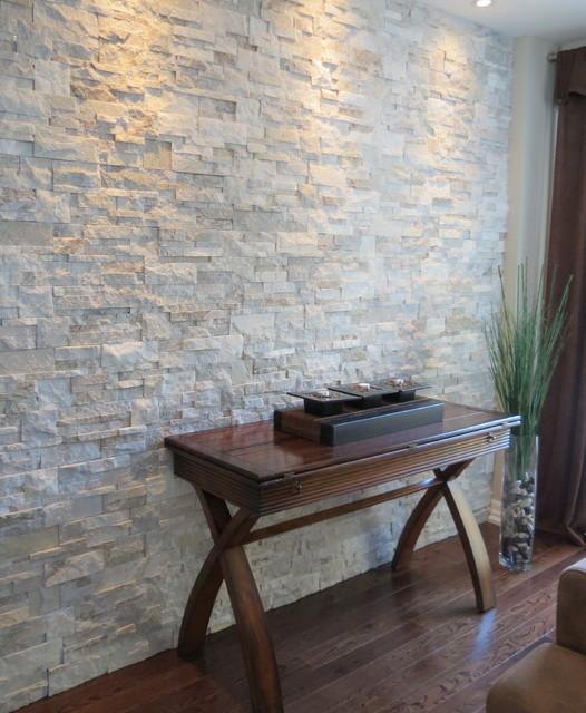 Interior Stone Accent Wallscontemporary Living Room Toronto