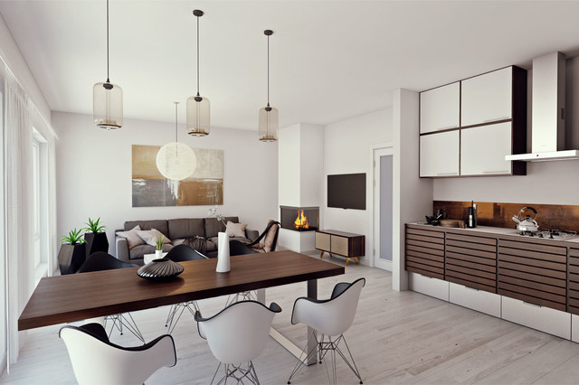 Interior Visualization Scandinavian Style Interior
