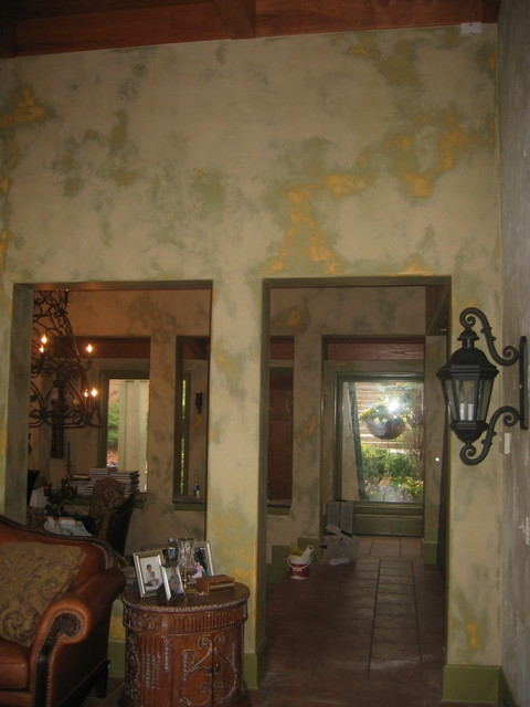 Interior Wall Surface Lime Wash Hand Distressed Finish