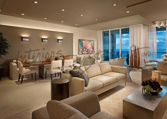 Interiors By Steven G Contemporary Living Room