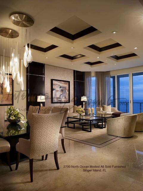 Interiors By Steven G Contemporary Living Room Miami