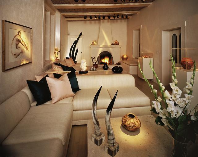 Interiors New Mexico Santa Fe Style Mediterranean Living Room Other Metro By David Hoptman
