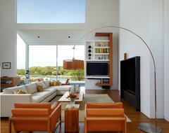 Interiors of the Mill Neck Residence modern-living-room