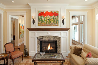 Interlachen Country Club (Edina) traditional-living-room
