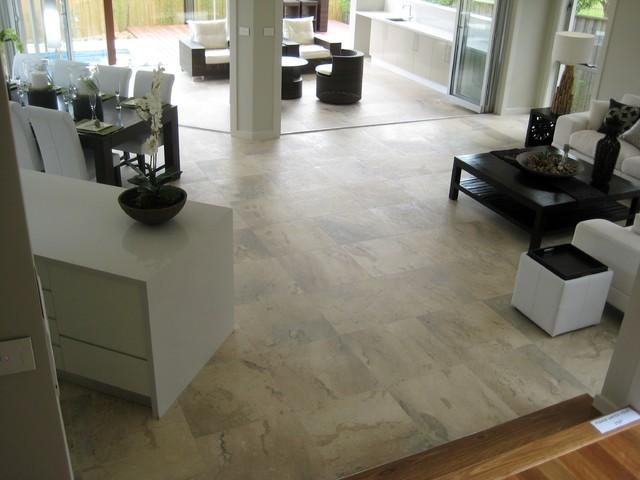 internal external stone floors contemporary living