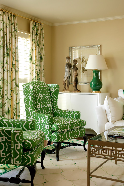 Best paint colors for your home green diy for Green traditional living room