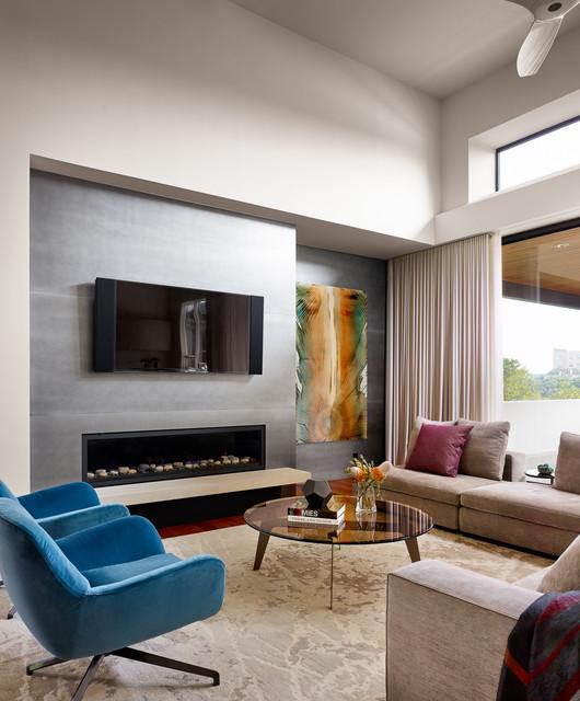 Contemporary Living Room Design Houzz: Inwood Cove