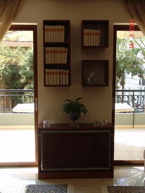 iris panagiotopoulou/eleni biskini contemporary-living-room