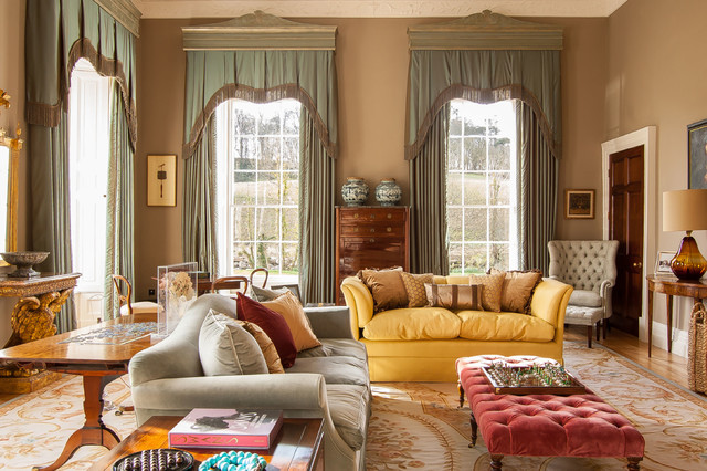 Irish Country House Traditional Living Room London By Fiona Campbell Design Houzz Ie