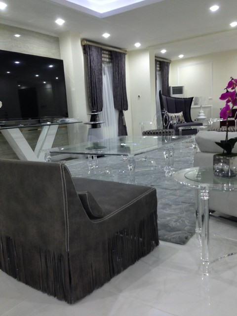 Iroko interior design sa private residence port harcourt for Living room designs in nigeria